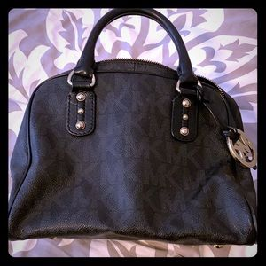 Michael Kors monogram small satchel bag
